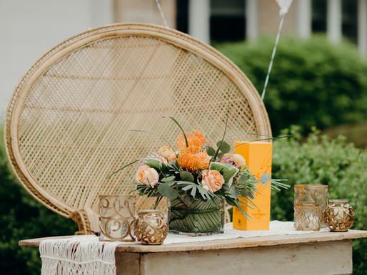 springtime Boho-inspired Driveway bridal shower