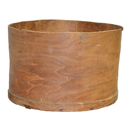 Vintage Round Wooden Cheese Box