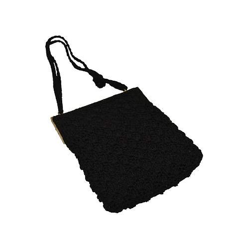 Black Crochet Purse