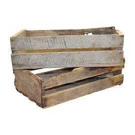 Wooden Slat Primitive Boxes