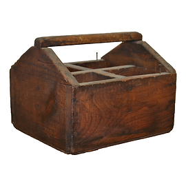 Wooden Four Compartment Box