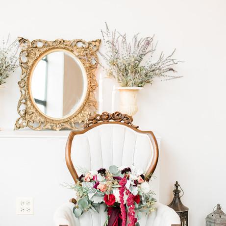 Spanish gilt gold mirror