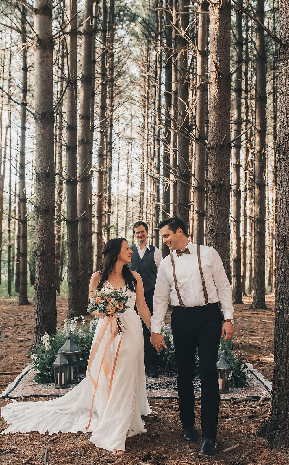 Woodsy, elopement ceremony