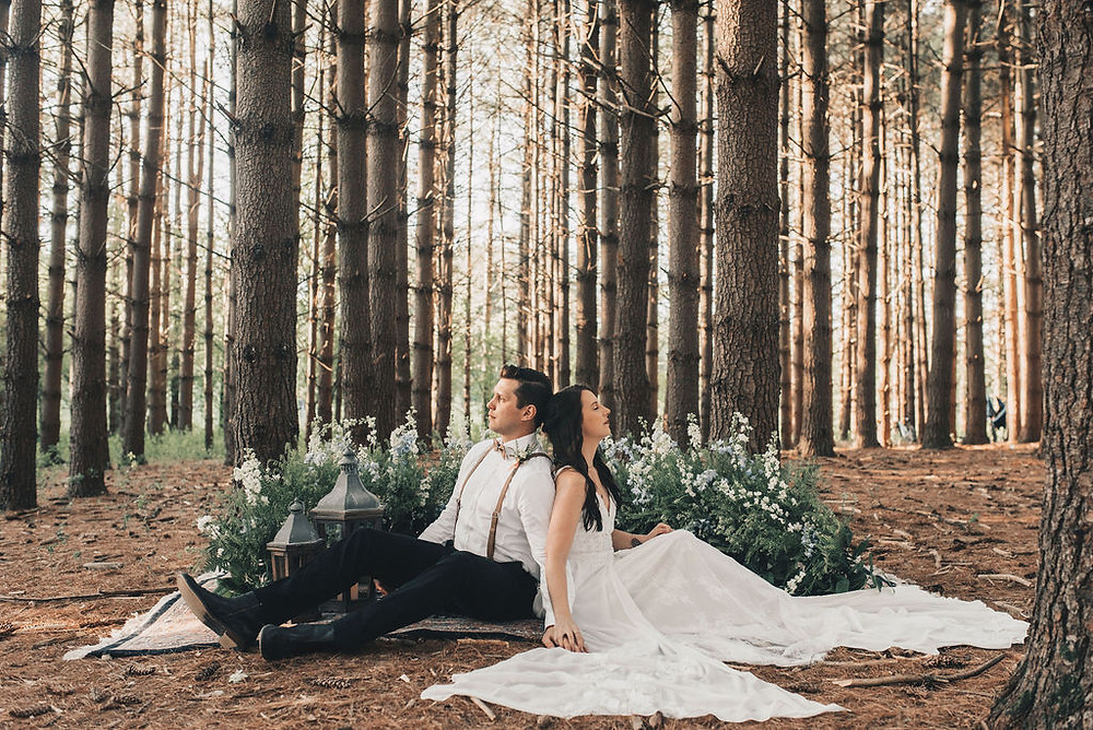 Breathe in the moment in your tiny wedding ceremony magic.