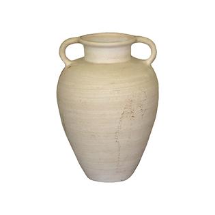 Stoneware handled pottery vase