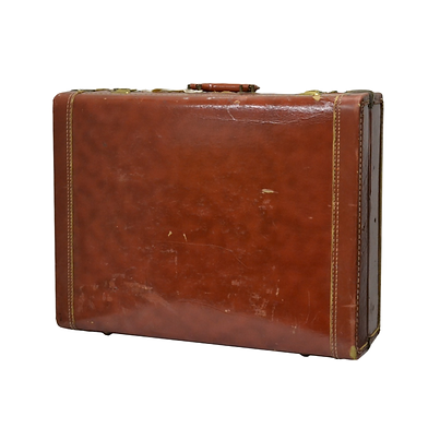 Brown 60's style suitcase