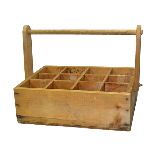 Rustic Wooden Wine Box with Handle