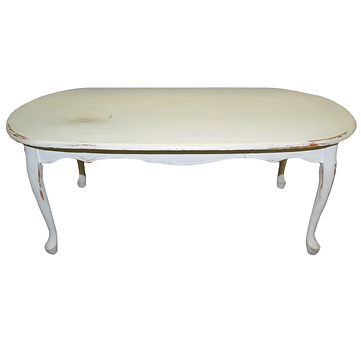 distressed french-style coffee table