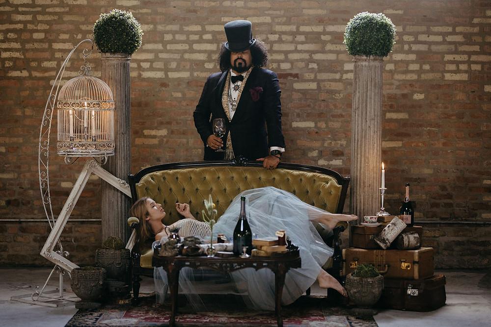 Alice in Wonderland Themed inspirational lounge sesating