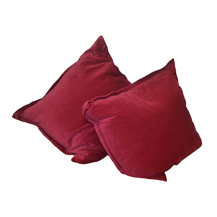Velvet raspberry pillows, Tommy Hilfiger