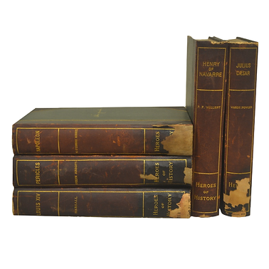 Heroes of History Leather bound books
