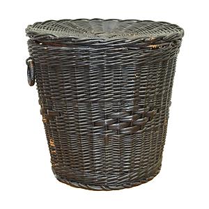 Black Wicker Basket with Lid