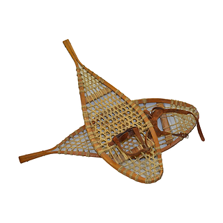 Wooden, Woven Snow Shoes