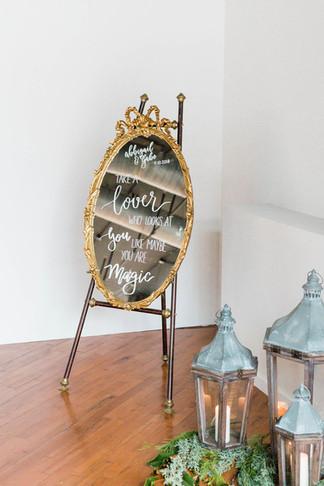 vintage-gold-oval-mirror-signage