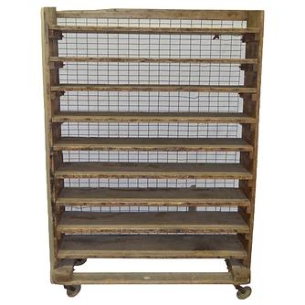 Vintage Wooden Display Cart