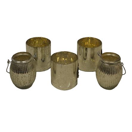 medium mercury candle holders