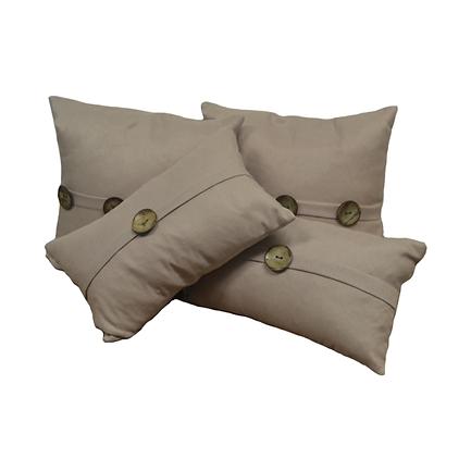 Mauve button pillows