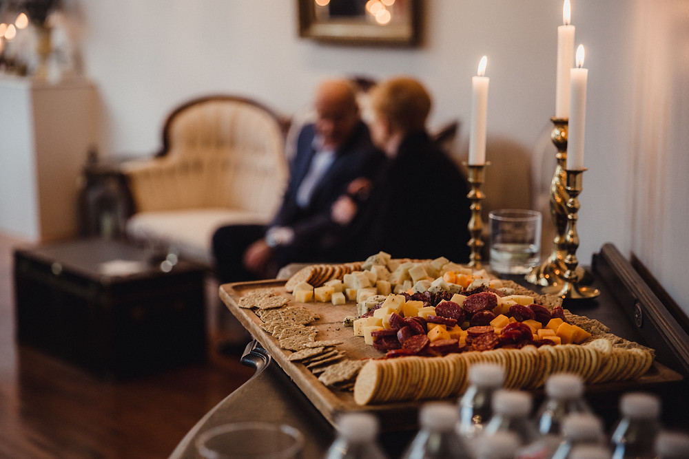 Charcuterie tray was a welcome appetizer following the ceremony at The Loft of Elements Preserved