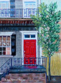 A Red Door in Savannah