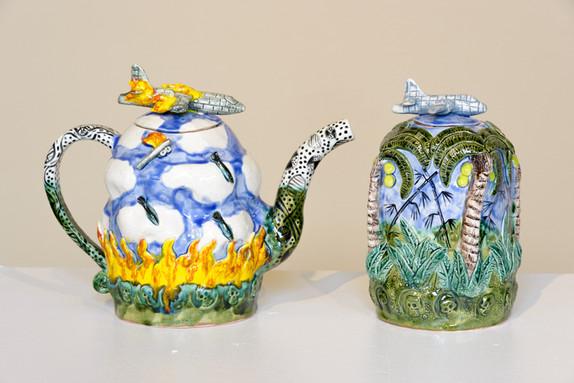 (L) Operation Rolling Thunder Mayday (Tea Pot)  (R)Spooky (Rice Jar)