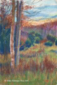 "Fran Redmon Fine Art Pastel Painting titled ""Ridge Sunset"""