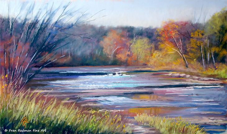 Benson Creek, original pastel painting