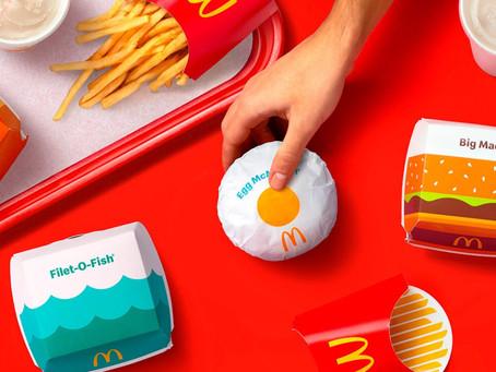 McDonald's renova a identidade visual de suas embalagens