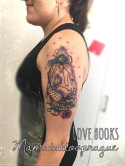 book lover tattoo