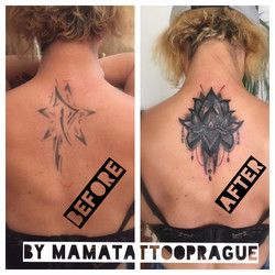 cover tattoo lotos