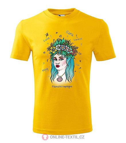 Aloha Tshirt - white, yellow