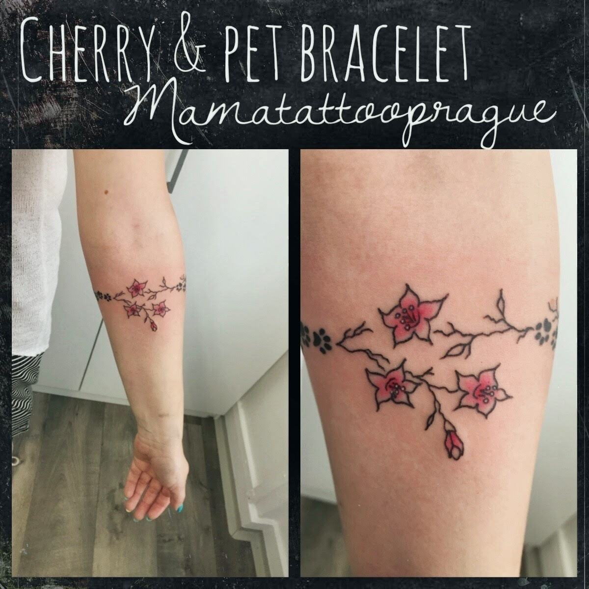 pets and cherry tattoo