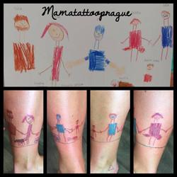 children pic tattoo