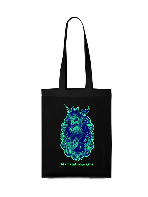Shopping bag Green Unicorn