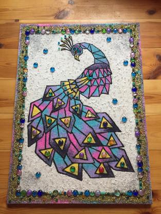 mozaika Páv