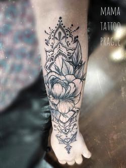 madala flower tattoo