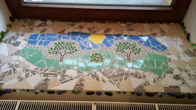 mozaika parapet priroda