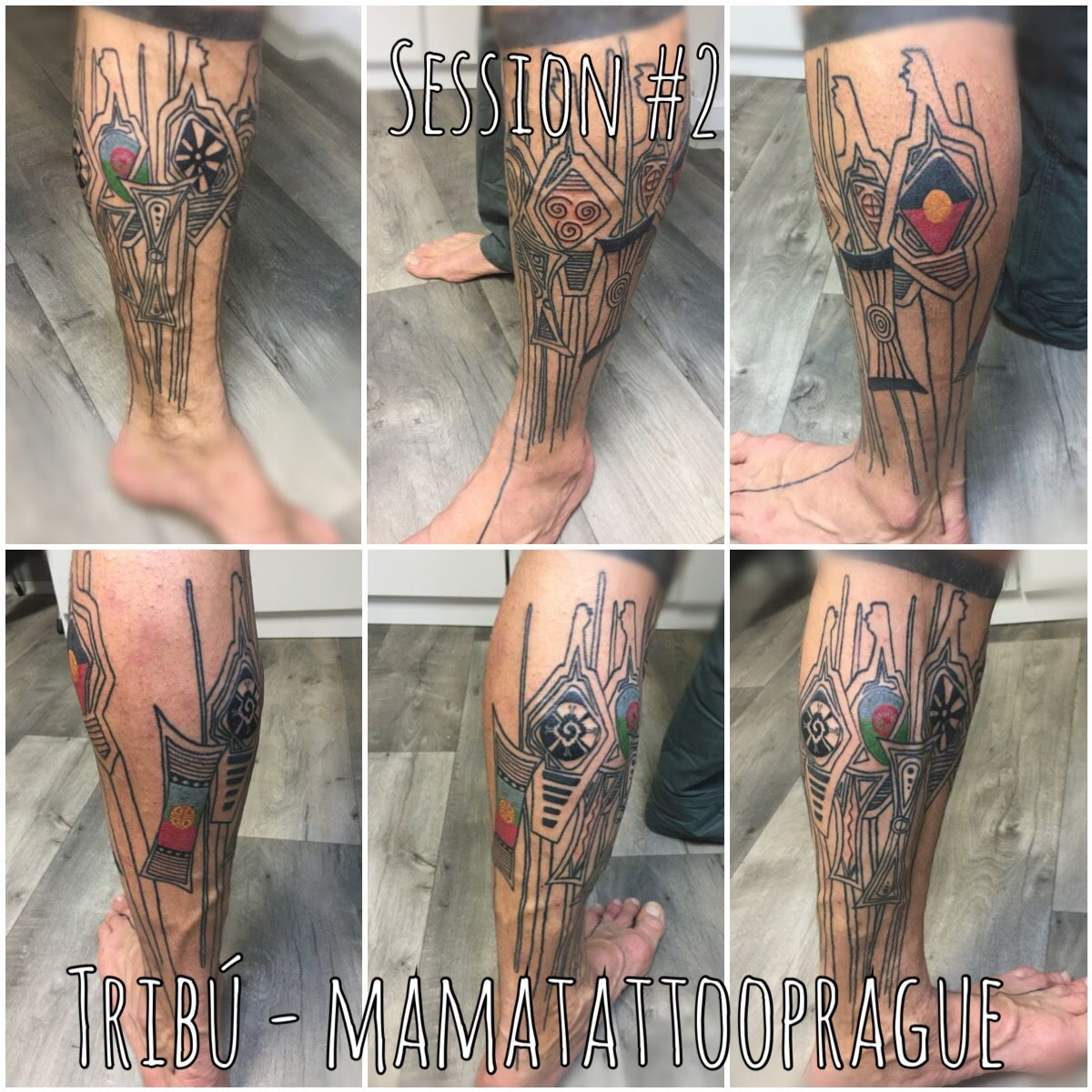 leg sleeve tribu tattoo