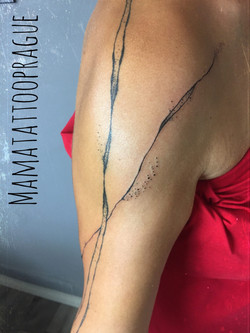 abstract tattoo linework