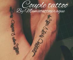 healed tattoo couple