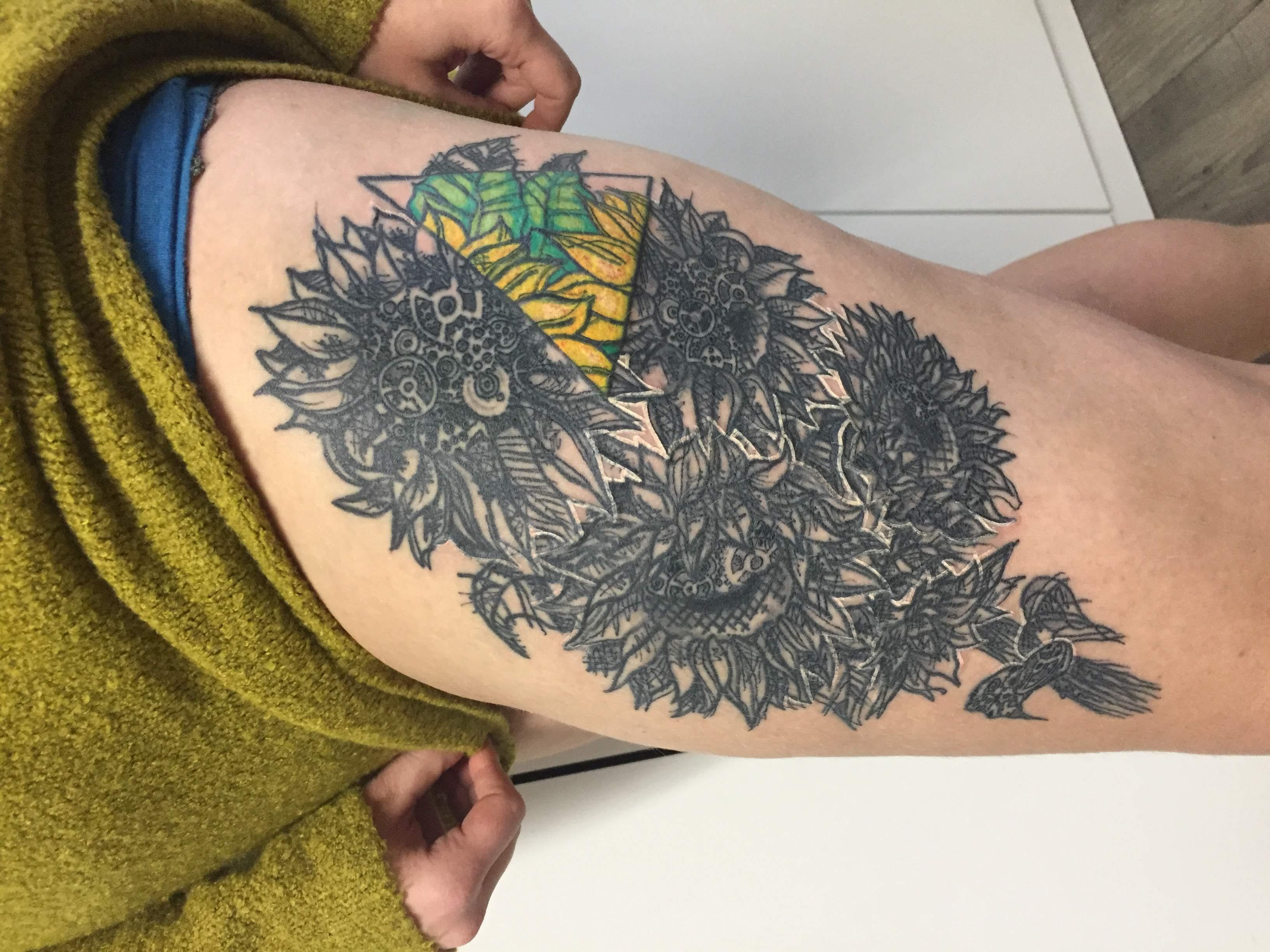 tattoo slunecnice
