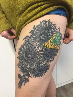 tetovani steampunk slunecnice