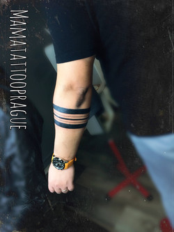 male bracelet tattoo