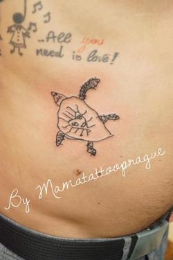 tattoo želvy podle kresby Sofinky