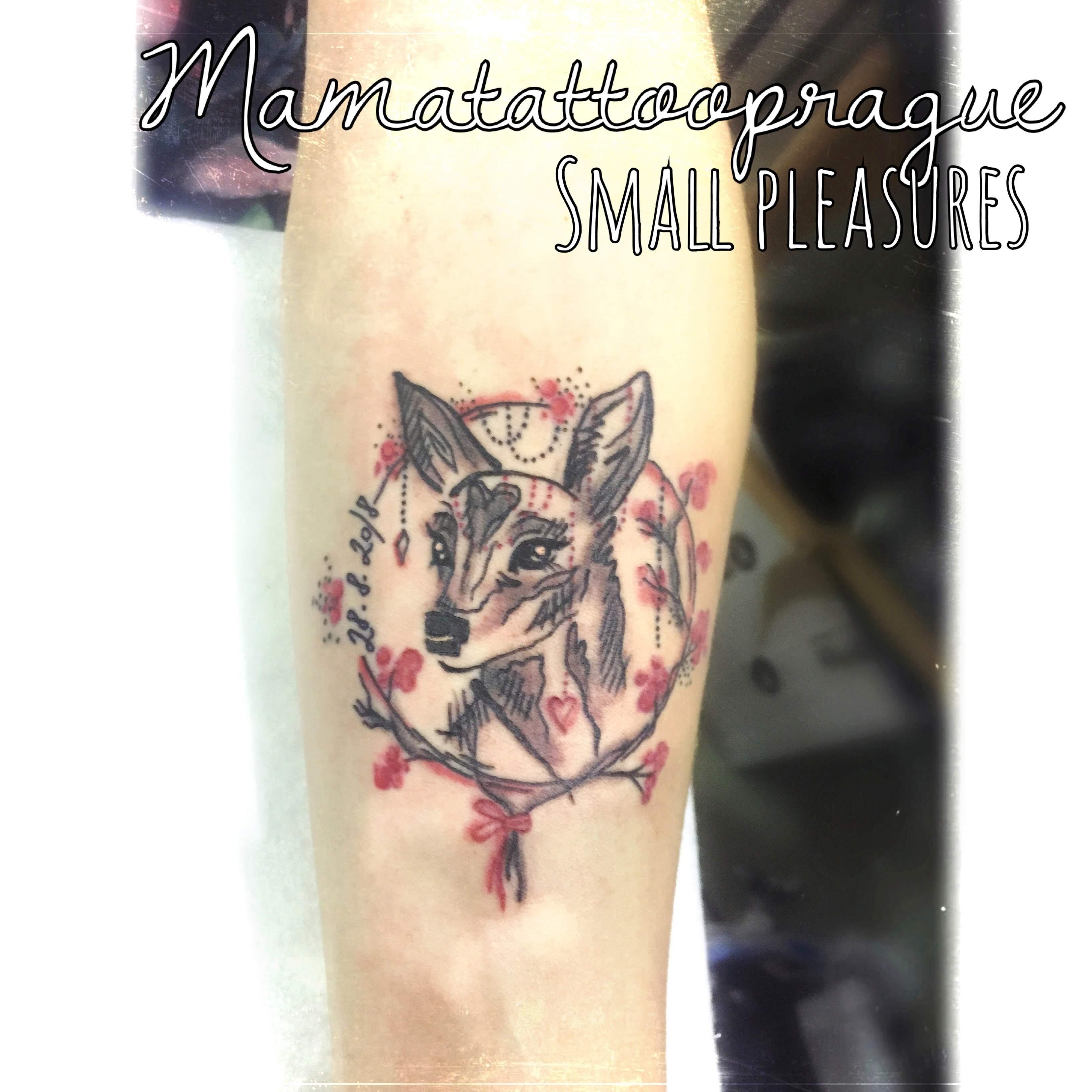 bithdate watercolor tattoo