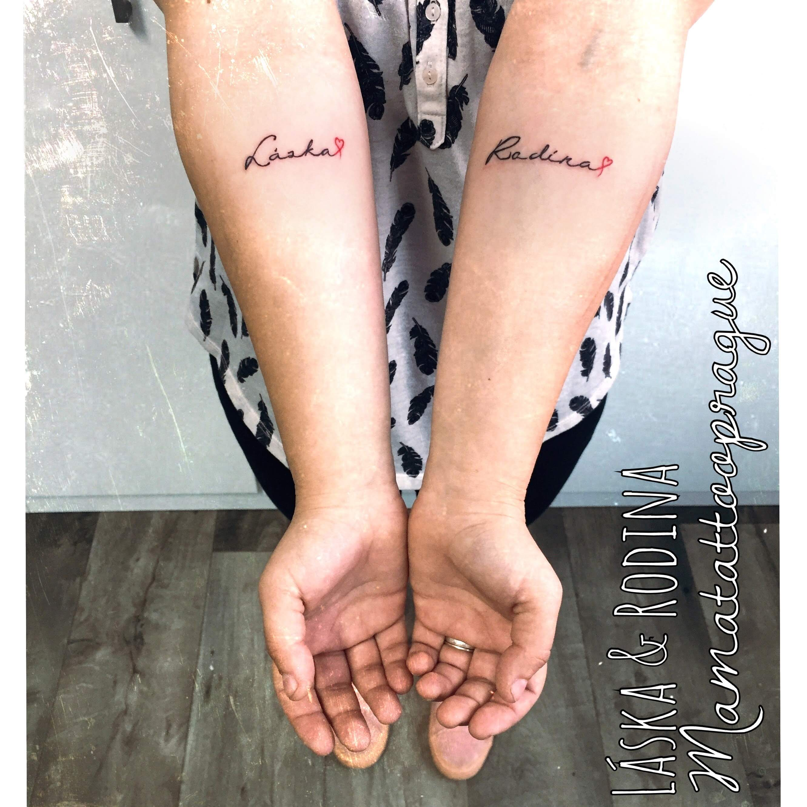 family and love tattoo