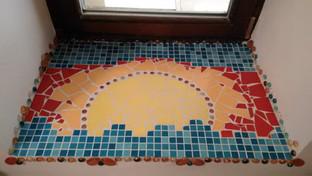 mozaika zapad slunce