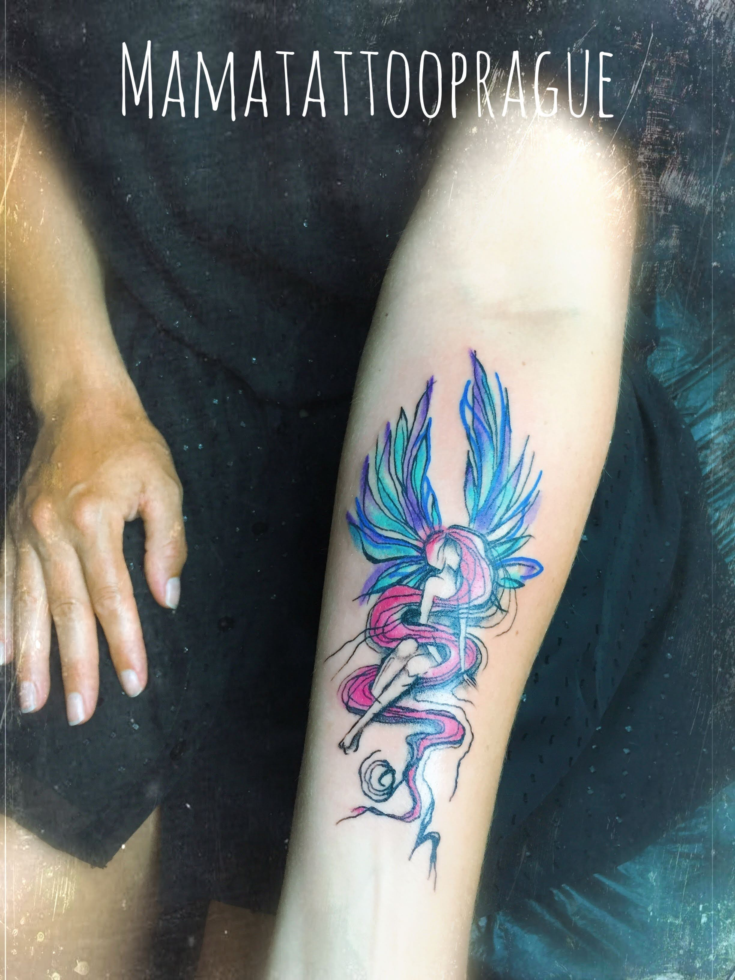 angeli watercolor tattoo