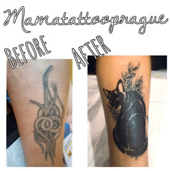 cover tattoo cat