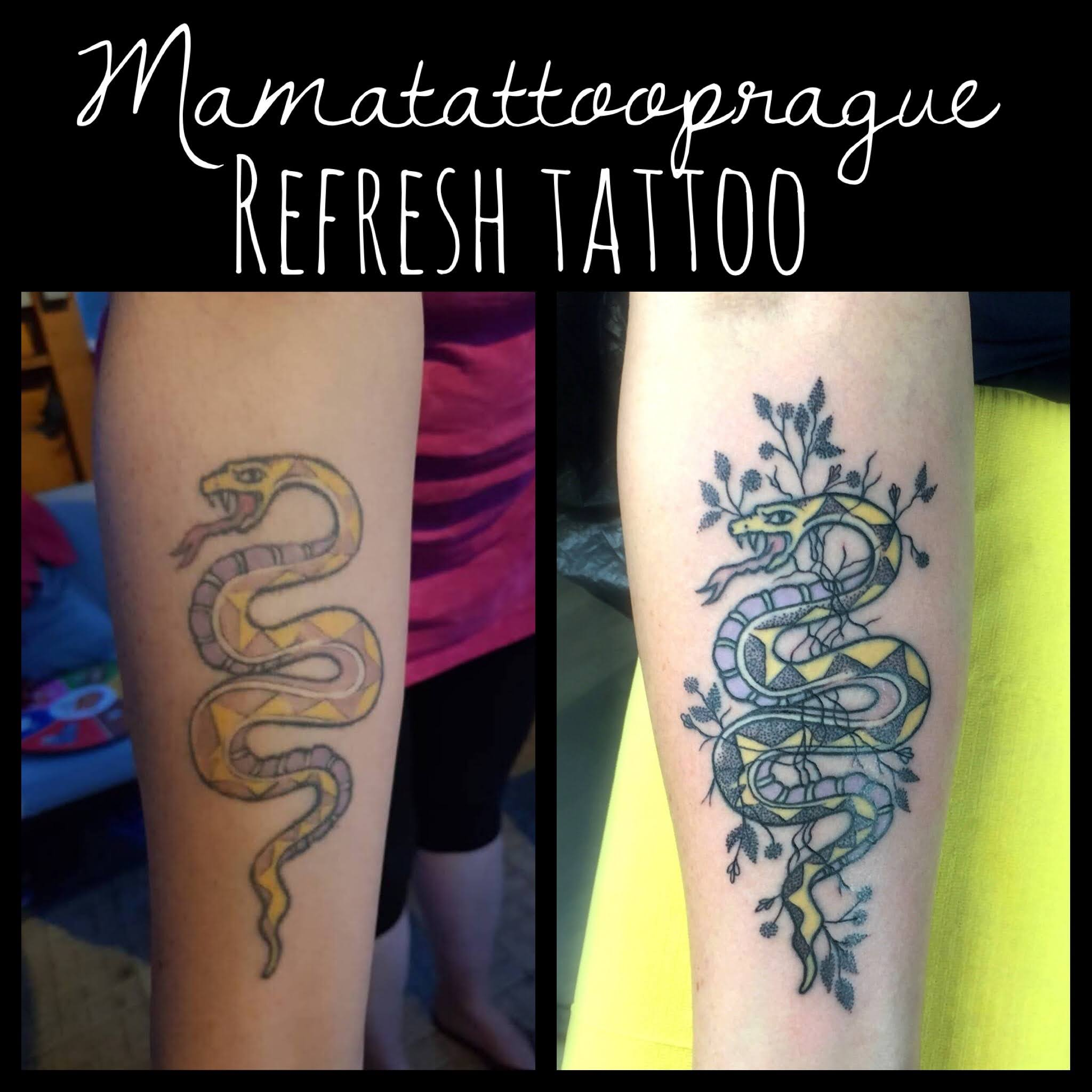 cover tattoo snake