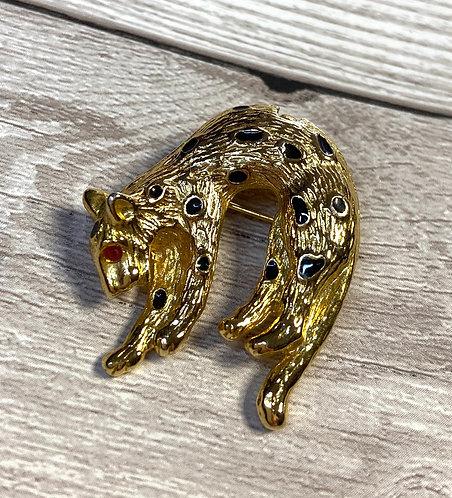 Vintage Gold Leopard Brooch/Pendant